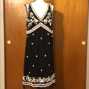 Black and White Beaded Dress